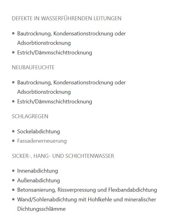 Bautrocknung Kondensationstrocknung aus Kirchentellinsfurt