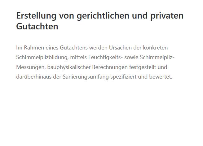 Schimmelpilz-Gutachten in 72124 Pliezhausen