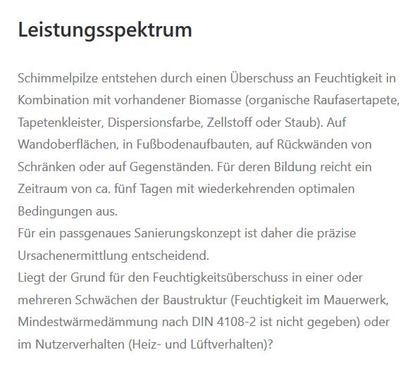Schimmelpilze in  Wannweil, Kirchentellinsfurt, Kusterdingen, Reutlingen, Pliezhausen, Tübingen, Pfullingen oder Gomaringen, Eningen (Achalm), Walddorfhäslach